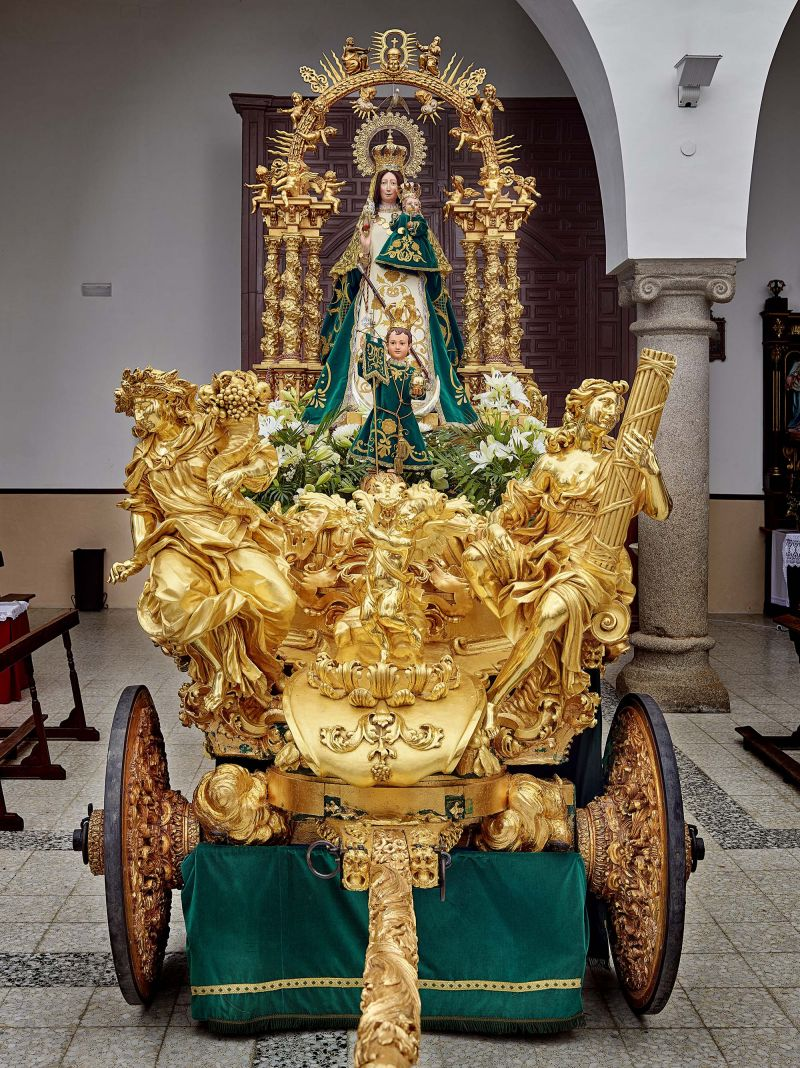 Carroza de la Virgen de la Caridad